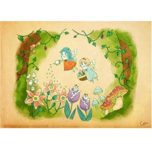 お花ときの子。 #小人 #森