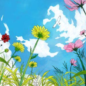 空を飛んだ。 Illustration: Guu