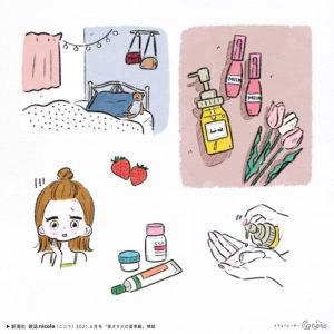 新潮社 nicola(ニコラ) 6月号「美オタJCの夏準備」 Illustration: Guu
