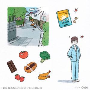 新潮社|nicola(ニコラ)|6月号「美オタJCの夏準備」|Illustration: Guu