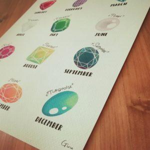 誕生石イラスト 誕生石のアートポスター / WEB SHOP 星のアトリエ by Guu