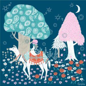幻想の森の小さな旅人。 #北欧